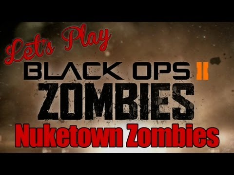 Call of Duty. Black Ops 2. Nuketown Zombies. Убиваем зомби. Alex и BrainDit. видео калавдюти блэк опс 2 зомби алекс и брейн