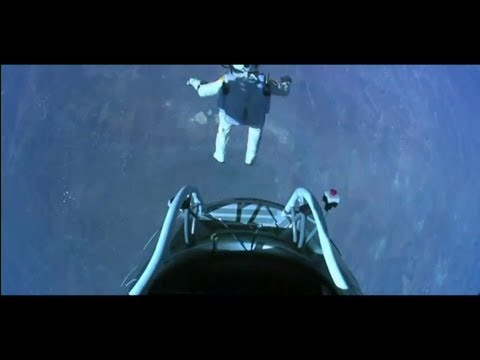 Man Freefalls from Space 2012 FULL (WORLD RECORD) HD
