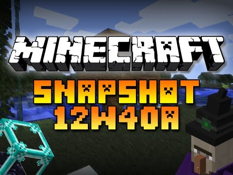 Minecraft: Weekly Snapshot 12w40a! (WITCH HUTS, BEACON CHANGES, AND MORE) ютуб мистик илаггер